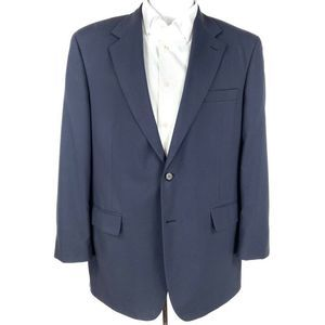 Brooks Brothers Two Button Blazer Blue Wool 43 R
